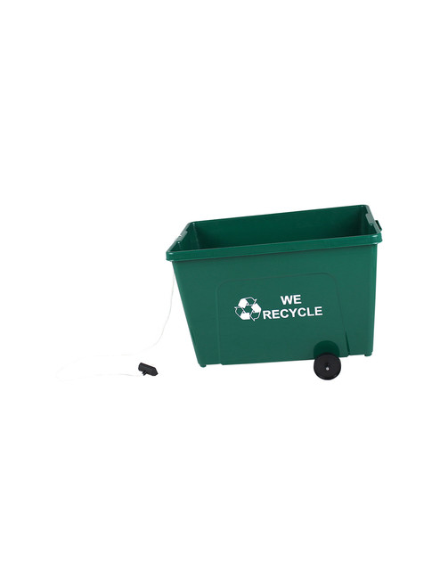 24 Gallon Pull & Go Wheeled Bottles & Cans Collector (Logo On Both Sides)