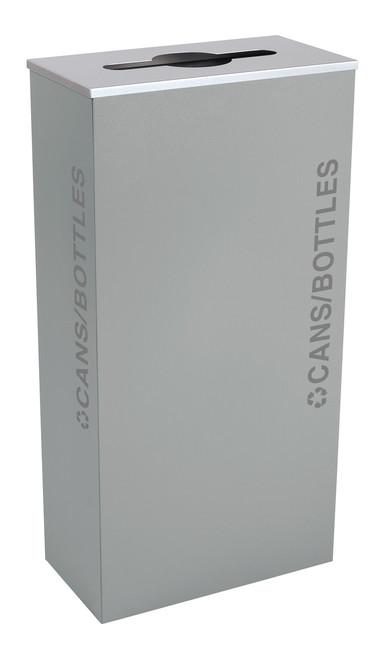 17 Gallon Kaleidoscope XL Black Tie Recycle Bin RC-KD17-C-BT-HMG (Gray, Cans/Bottles)