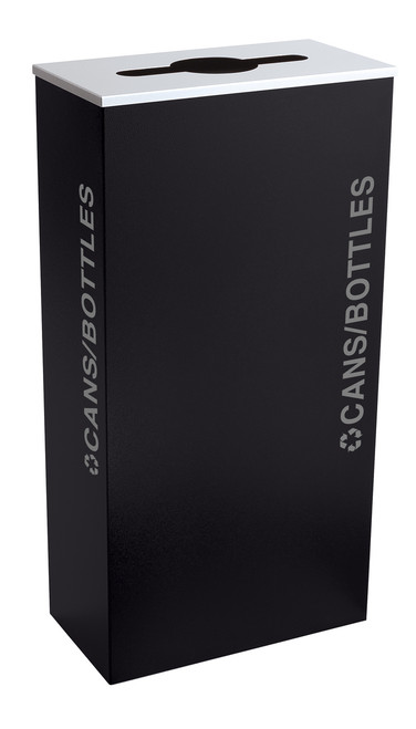 17 Gallon Kaleidoscope XL Black Tie Recycle Bin RC-KD17-C-BT-PBG (Black, Cans/Bottles)