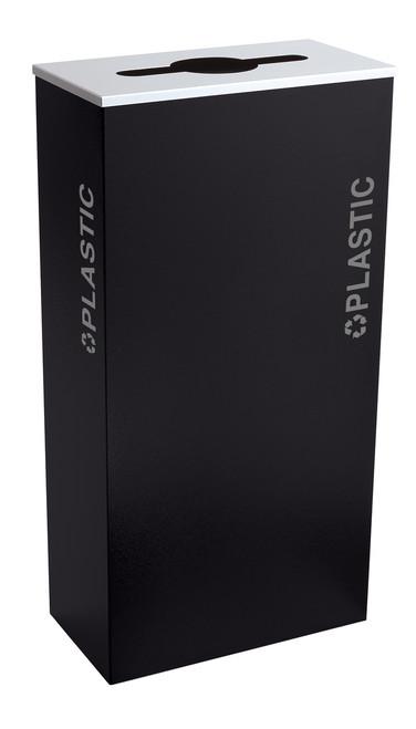 17 Gallon Kaleidoscope XL Black Tie Recycle Bin RC-KD17-PL-BT-PBG (Black, Plastic)
