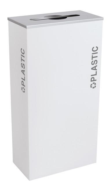 17 Gallon Kaleidoscope XL Black Tie Recycle Bin RC-KD17-PL-BT-WHT (White, Plastic)