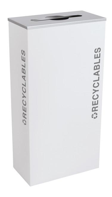 17 Gallon Kaleidoscope XL Black Tie Recycle Bin RC-KD17-R-BT-WHT (White, Recyclables)