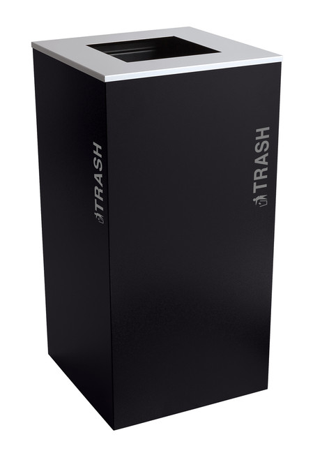 36 Gallon Kaleidoscope XL Black Tie Trash Can RC-KD36-T-BT-PBG (Black, Trash)