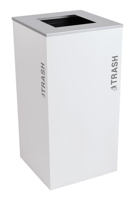 36 Gallon Kaleidoscope XL Black Tie Trash Can RC-KD36-T-BT-WHT (White, Trash)