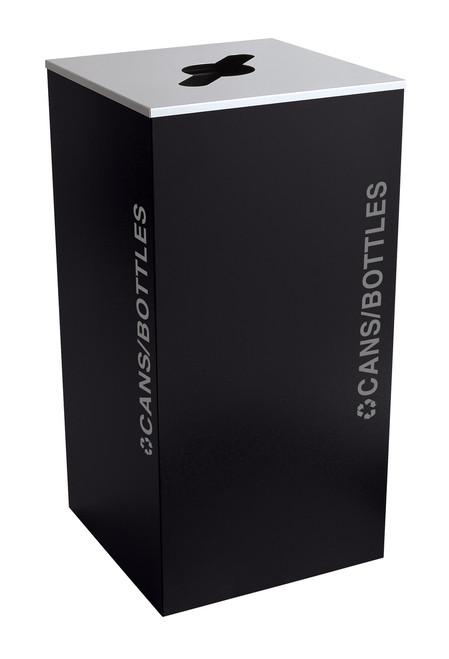 36 Gallon Kaleidoscope XL Black Tie Recycle Bin RC-KD36-C-BT-PBG (Black, Cans/Bottles)