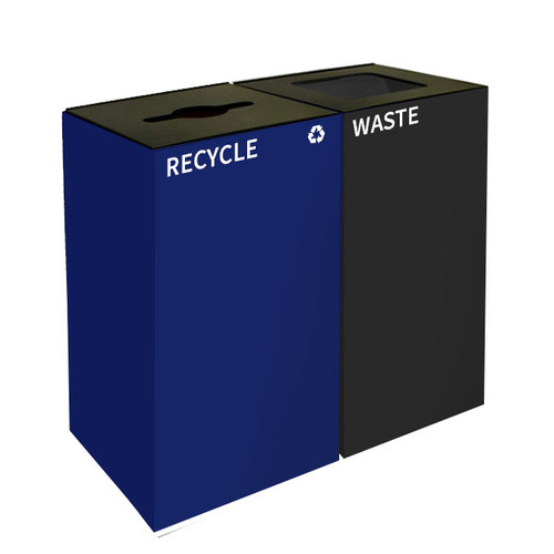 72 Gallon Geocube Double 36GC04-36GC03 Combo Recycling Bin (5 Color Choices)