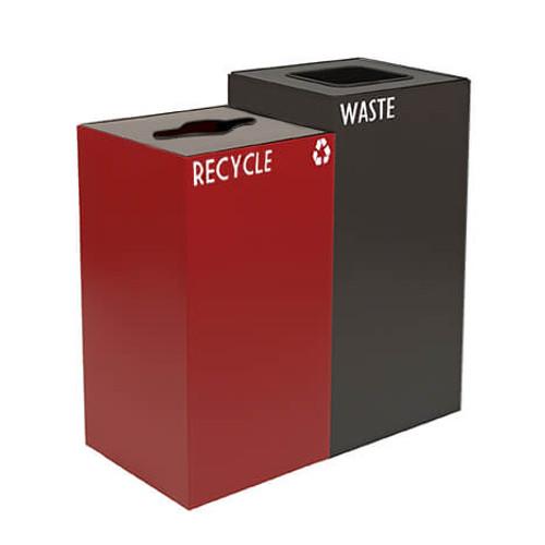 52 Gallon Geocube Double 24GC04-28GC03 Combo Recycling Bin (5 Color Choices)