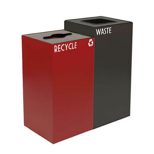 60 Gallon Geocube Double 28GC04-32GC03 Combo Recycling Bin (5 Color Choices)