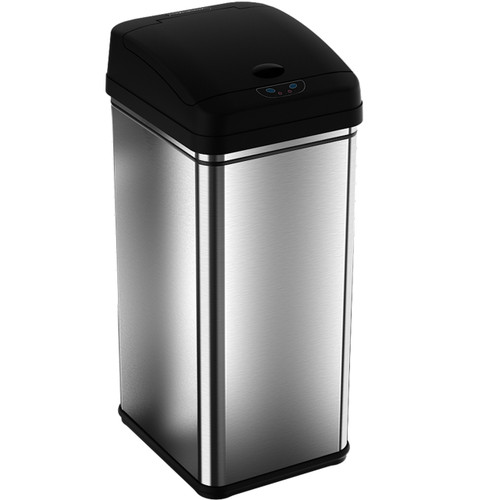 iTouchless Odor Blocking Trash Can 13 Gallon Stainless Steel