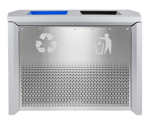 68 Gallon Coliseum Indoor Combo Trash and Recycle Receptacle RC-IND2 HMG/SS