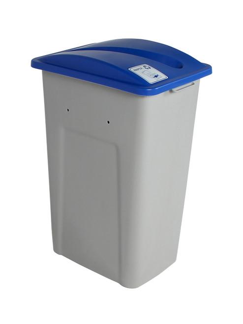 32 Gallon XL Simple Sort Recycling Bin (Paper, Blue Lid)