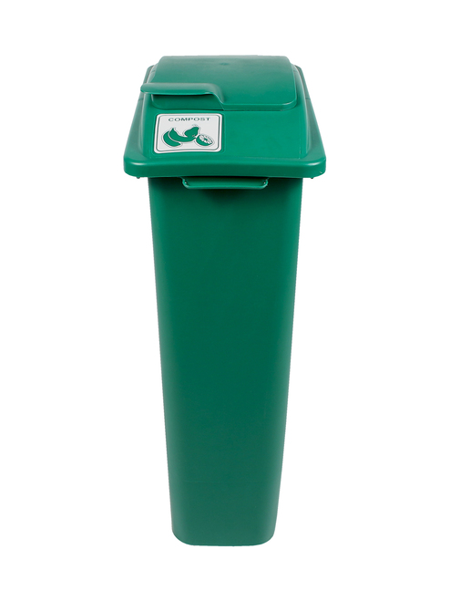 23 Gallon Green Skinny Simple Sort Compost Bin Lift Top