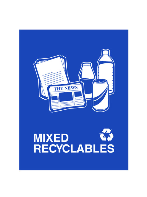 MIXED RECYCLABLES (BLUE)