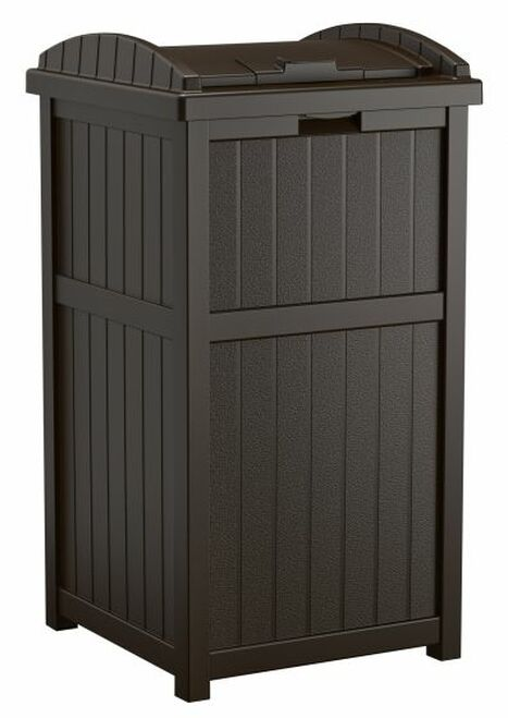 Java Trash Can GH1732J for Deck or Patio