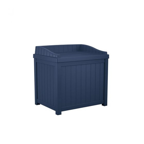22 Gallon Deck or Patio Deck Box With Seat SS1000ND Navy Blue