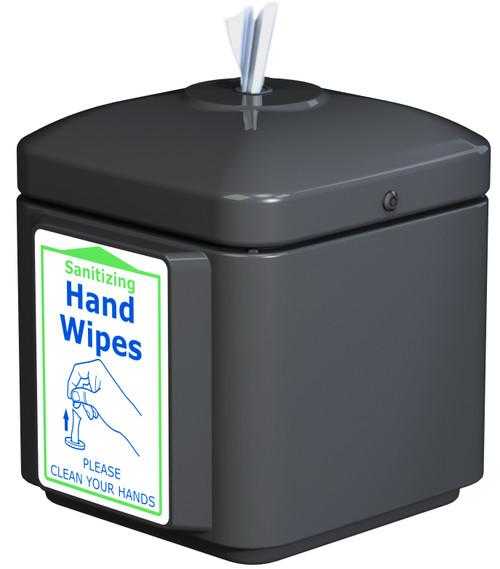 Sanitizing Wipe Dispenser Wall Mount 8003259 (BLACK, No Wipes)