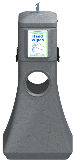 Sanitizing Wipe Dispenser Floor Standing w/Trash Can 8003251 (GRAY, No Wipes)