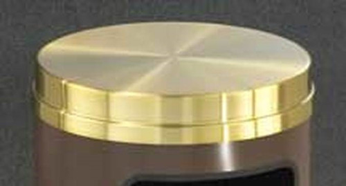 Satin Brass Flat Top Lid ONLY for Glaro Decorative Commercial Trash Cans