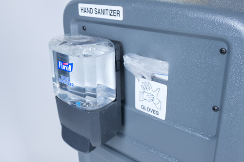 Hand Sanitizer and Gloves