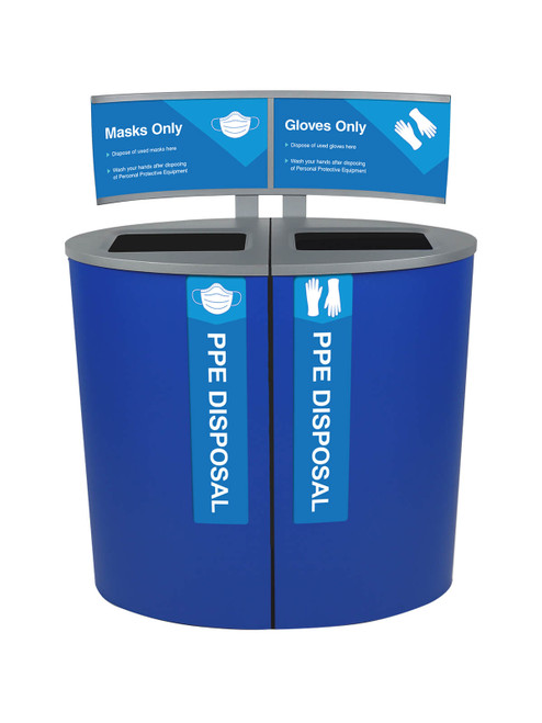 44 Gallon PPE Trash Receptacle 105407 for Masks and Gloves