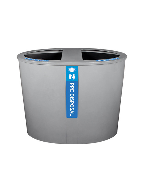 44 Gallon PACIFIC PPE Garbage Can 105409 for Masks and Gloves in Silver Sparkle Finish