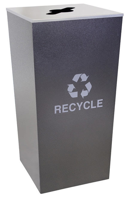 34 Gallon Hammered Charcoal Metro Collection XL Recycle Bin RC-MTR-34-R-HCCL