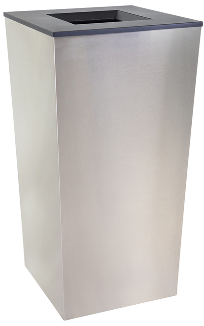 34 Gallon Stainless Steel Metro Collection XL Trash Can RC-MTR-34-TR-SS