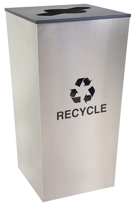 34 Gallon Stainless Steel Metro Collection XL Recycle Bin RC-MTR-34-R-SS