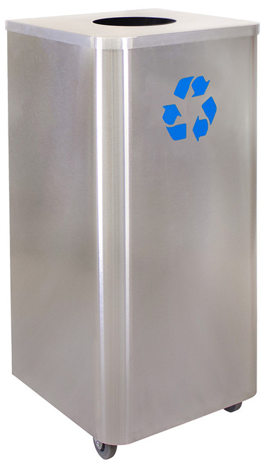 24 Gallon Stainless Steel Recycling Receptacle LDR-24 SS