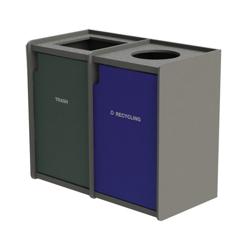 84 Gallon Dual Top-Load Trash Can Raised Edge 72TLRN42-38959