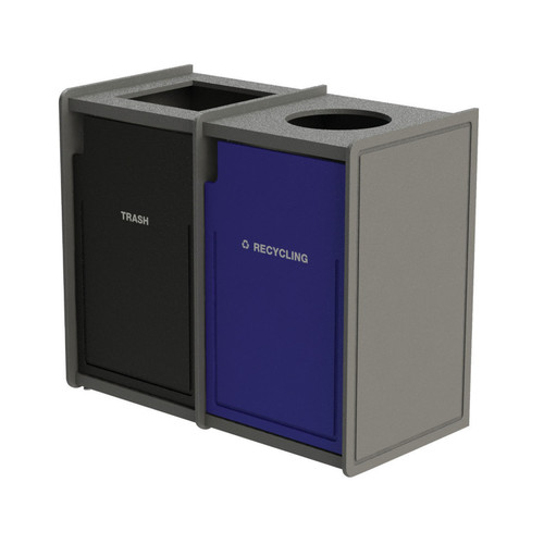 84 Gallon Dual Top-Load Trash Can Routed 72TLFR42-37407