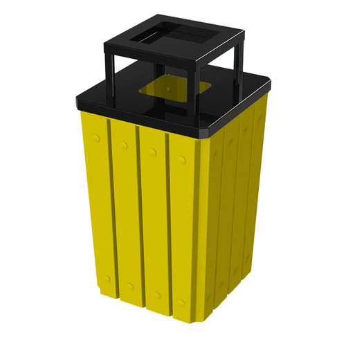 32 Gallon Heavy Duty Yellow Ash Trash Can with Liner S8295S-00-146