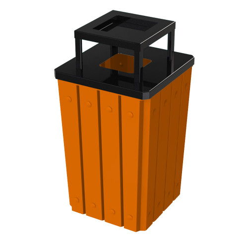 32 Gallon Heavy Duty Orange Ash Trash Can with Liner S8295S-00-130