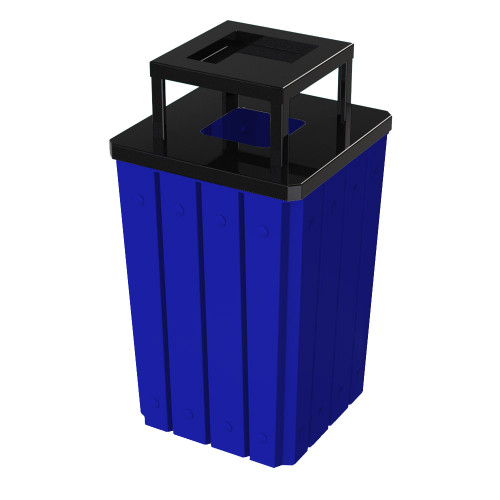 32 Gallon Heavy Duty Blue Ash Trash Can with Liner S8295S-00-055