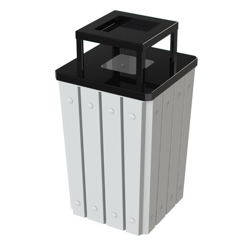 32 Gallon Heavy Duty White Ash Trash Can with Liner S8295S-00-215