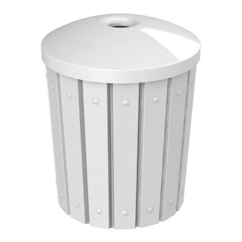 42 Gallon Kolor Can Heavy Duty Mushroom Top Recycle Bin S8285A-00 WHITE