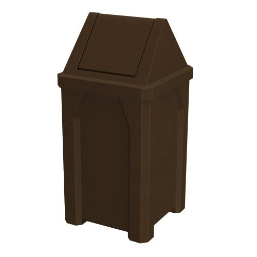 32 Gallon Kolor Can Swing Top Trash Can S7803A-00 BROWN GRANITE