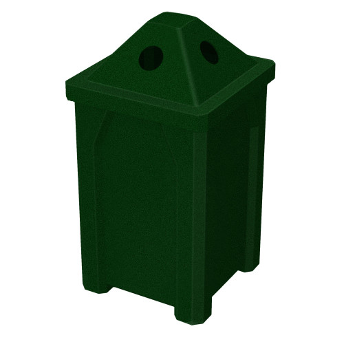 32 Gallon Kolor Can Pyramid Lid Recycle Bin S7807A-00 GREEN GRANITE