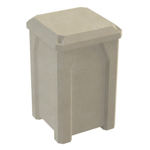 32 Gallon Kolor Can Dust Cover Lid Enclosed Trash Can S7802A-00 BEIGE GRANITE