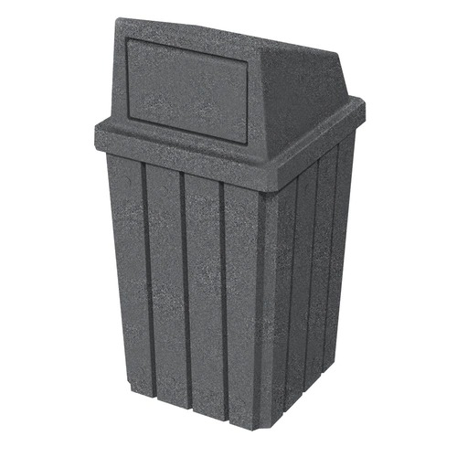 32 Gallon Kolor Can Heavy Duty Push Door Trash Bin S8291A-00 DARK GRANITE