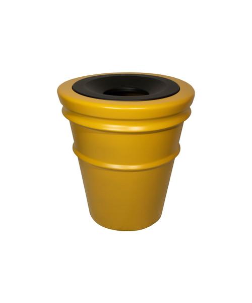 32 Gallon Fiberglass SANTIAGO Decorative Trash Receptacle