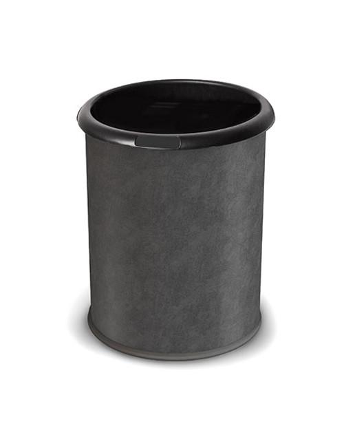 3 Gallon Steel Black Vinyl Wrapped Wastebasket Precision Series 781946