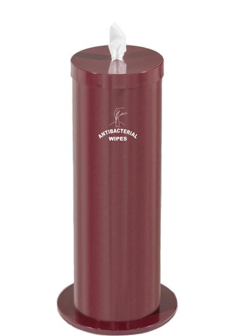 Sanitizing Wipe Dispenser F1027-S with Wipe Storage & Weighted Base BURGUNDY