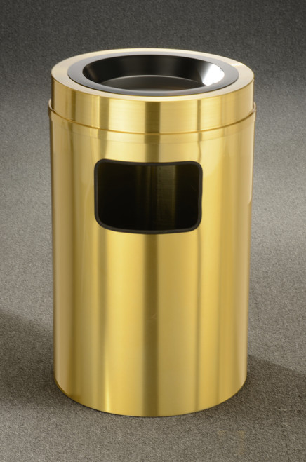 Brass Ashtray Top Trash Can w/Plastic Liner