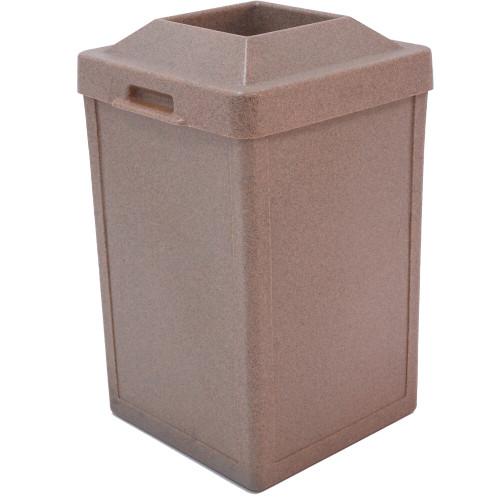 24 Gallon Heavy Duty Plastic Indoor Outdoor Waste Container TF1013