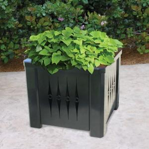 Square Steel Metal Planter with Liner S8060 (5 Styles)