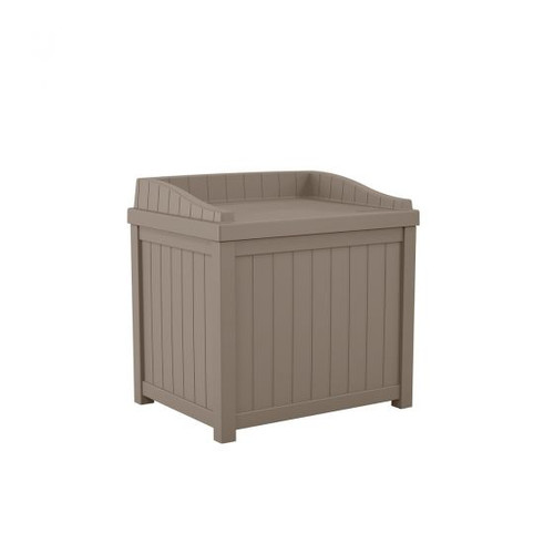 22 Gallon Outdoor Deck or Patio Deck Box With Seat SS1000 Dark Taupe