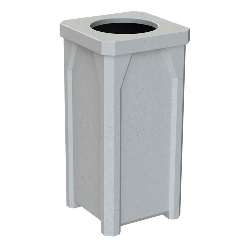 22 Gallon Kolor Can Indoor Outdoor Square Trash Container S7901A-00 Light Granite