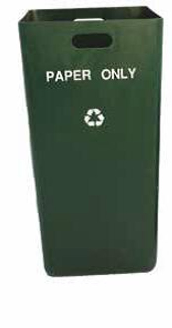 24 Gallon Indoor Green Recycling Trash Can TF1645
