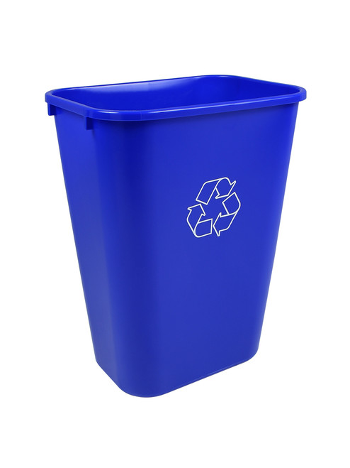41 Quart Blue Recycling Bin Waste Basket 41QRBL (2 Pack)